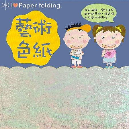 Papel P/ Origami 15x15cm EC 35 Puli Paper Branco Iridescente (10fls)