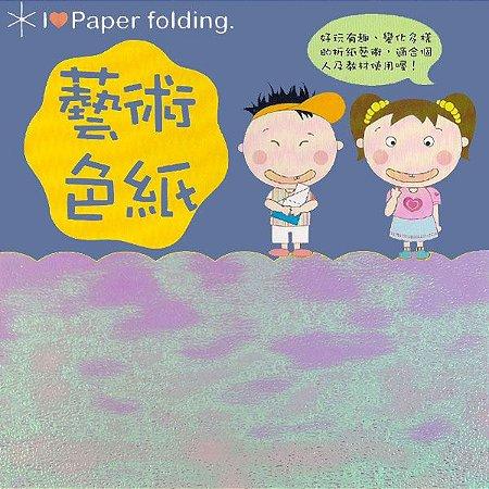 Papel P/ Origami 15x15cm EC 35 Puli Paper Lilas (10fls) - 6152