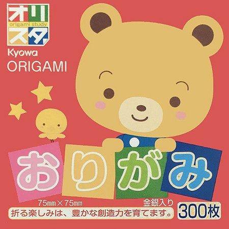 Papel P/ Origami 7,5x7,5cm Lisa Face Única 15 Cores S-203 - Kyowa (300fls)