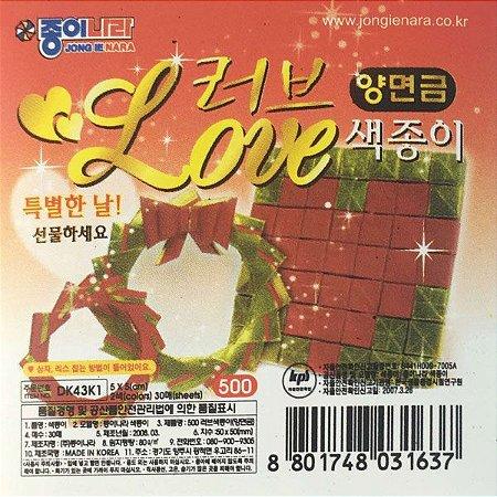 Papel P/ Origami 5x5cm Love (DK43K1) (30fls)