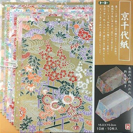 Papel P/ Origami Estampado Face Única Washi 013002