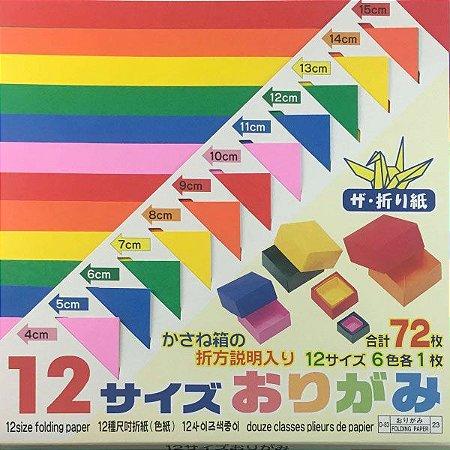 Papel de Origami 12 Tamanhos D-83 23 (72fls)