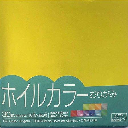 Papel p/ Origami 15x15 Metálico Foil Color Origami (30fls)
