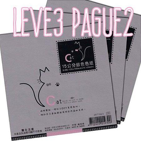 Papel de Origami 15x15cm Perolizada Face única 3871023 (10fls/pacote) LEVE 3 PAGUE 2