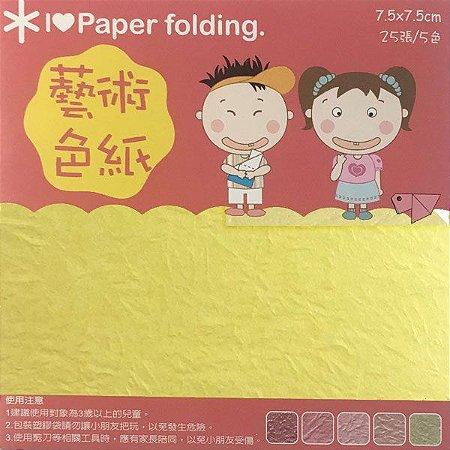 Papel P/ Origami 7,5x7,5cm Dupla-Face Lisa EPP010 (25fls)