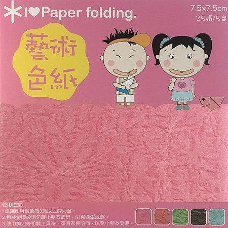 Papel P/ Origami 7,5x7,5cm Dupla-Face Lisa EP007 (25fls)