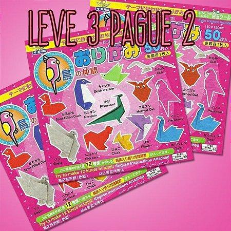 Papel P/ Origami 15x15cm Face única 31 Cores Passaros D-083 (50fls) - Leve 3 Pague 2