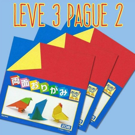 Papel P/ Origami 17,5x17,5cm Dupla-face 11 Combinações Cores (20fls) - Leve 3 Pague 2