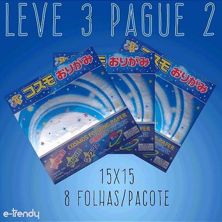 Papel p/ Origami 15x15 Cosmos Folding Paper (8fls)-L3P2