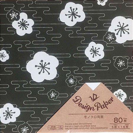 Papel p/ Origami 15x15cm Dupla-Face Design Paper D-045 No. 64 (80fls)