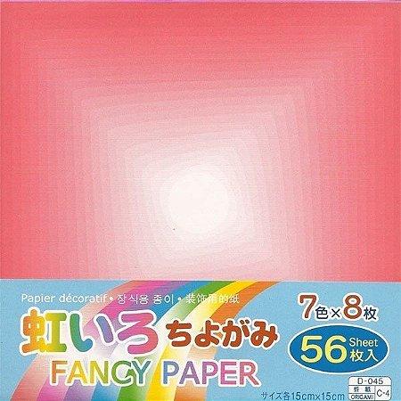 Papel P/ Origami 15x15cm D-45 C-4 Fancy Paper (56fls)