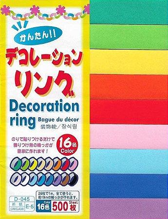 Papel P/ Origami 2,1x15cm D-045 E-5 Decoration Ring (500fls)