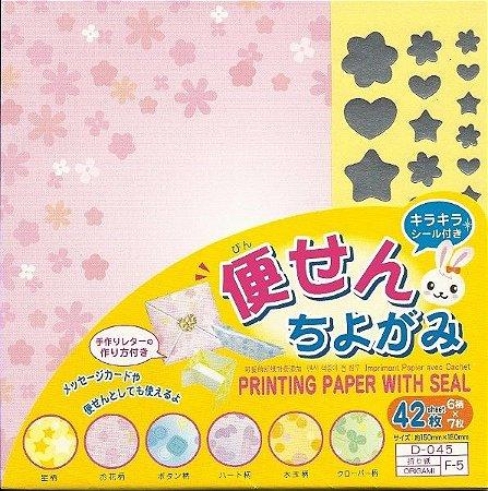 Papel P/ Origami D-045 F-5 - Daiso (42fls)