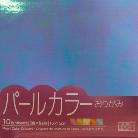 Papel P/ Origami Pearl Color Origami 15x15 - Daiso (10fls)