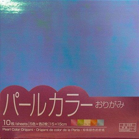 Papel P/ Origami Pearl Color Origami 15x15 - Daiso (10fls)