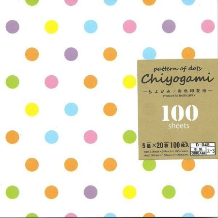 Papel P/ Origami 15x15cm Chiyogami Pattern Of Dots (100fls) D-45 I-3