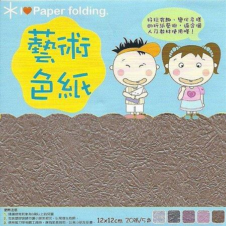 Papel P/ Origami 12x12cm Dupla Face EPP006 (20fls)