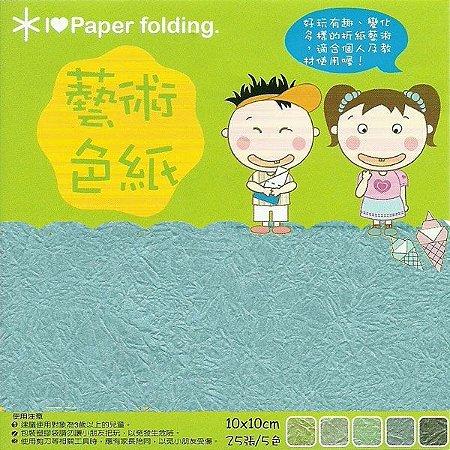 Papel p/ Origami 10x10cm Dupla Face EPP008 (25fls)