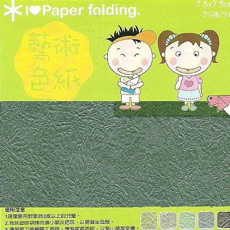 Papel p/ Origami 7,5x7,5cm Dupla Face EPP011 (25fls)
