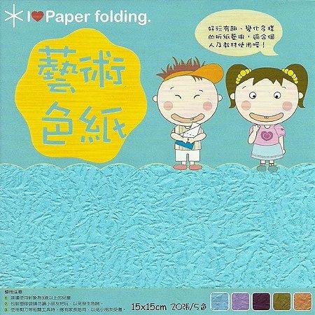 Papel P/ Origami 15x15cm Dupla-Face EP002 (20fls)