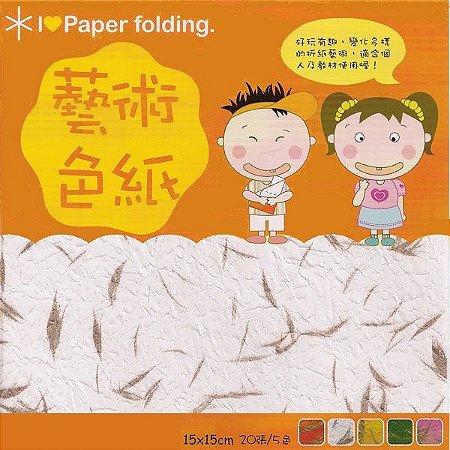 Papel P/ Origami 15x15cm Dupla-Face EPN001 (20fls)