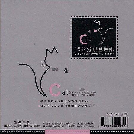 Papel P/ Origami 15x15cm Perolizada Face única 3871023 (10fls)