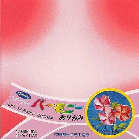 Papel P/ Origami 11,7x11,7cm Estampado Face única 22-1102-200 Soft Harmony (70fls)
