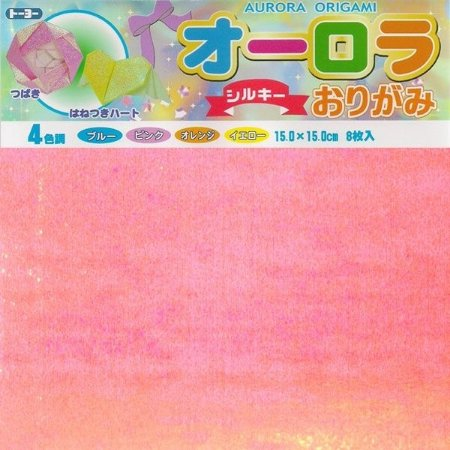 Papel P/ Origami Aurora Silky 15x15 (007014-200) - Toyo (8fls)
