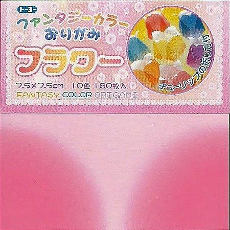 Papel P/ Origami 7,5x7,5cm Fantasy Color Origami 006061-200 (180fls)