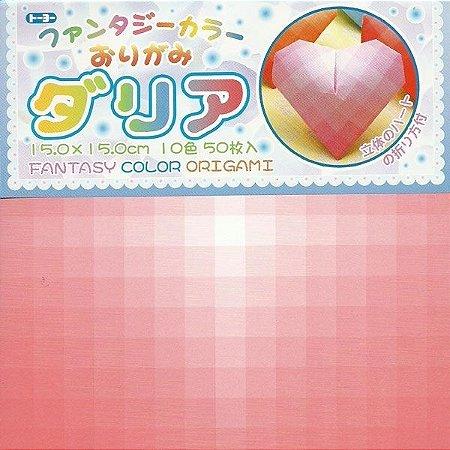 Papel P/ Origami 15x15cm Estampada Face Única Fantasy Color Origami 006062-200 (50fls)