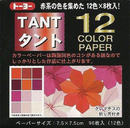 Papel P/ Origami 7,5x7,5cm Tant Vermelho - Toyo (96fls)