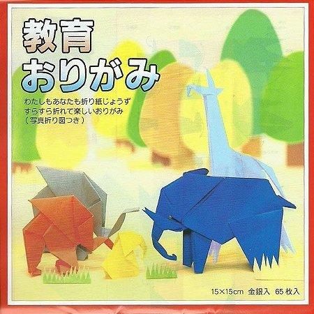 Papel P/ Origami 15x15cm Liso Face Única 27 Cores K-2015 (65fls)