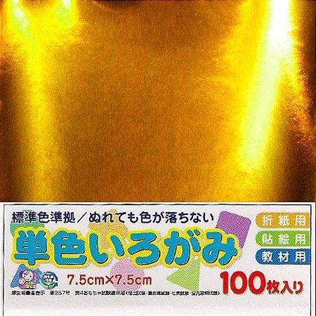 Papel P/ Origami No. 39 Dourado - Ehime Shiko (100fls)