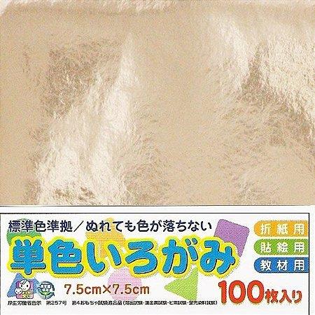 Papel P/ Origami 7,5x7,5cm No. 40 Prateado - Ehime Shiko (100fls)