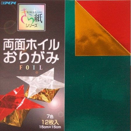 Papel P/ Origami 15x15 Dupla-face Metálico (12fls) - Ehime Shiko