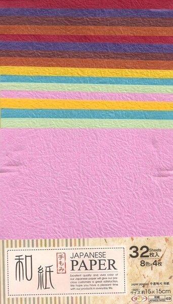 Papel Artesanal P/ Origami 15x15cm Liso Dupla Face (32fls) Japanese Paper Washi-49