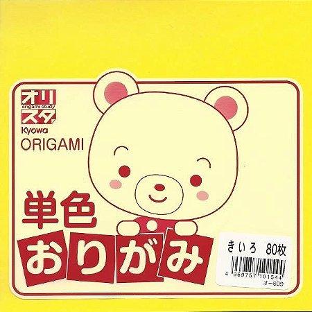 Papel P/ Origami Amarelo O-609 - Kyowa (80fls)