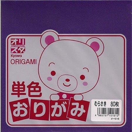 Papel P/ Origami Roxo O-616 - Kyowa (80fls)