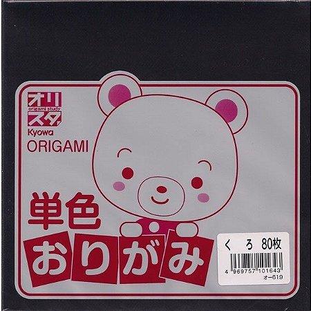Papel P/ Origami Preto O-619 - Kyowa (80fls)