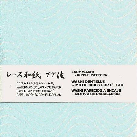Papel P/ Origami 15x15cm Estampado Lacy Washi - Ondulação LW152(16fls)