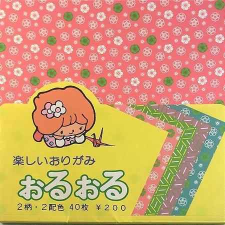 Papel P/ Origami Chyogami Oru-Oru - Suzuki (40fls)