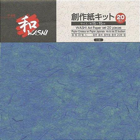 Papel P/ Origami 15x15cm Lisa Dupla Face Washi Art Paper C-30 (20fls)