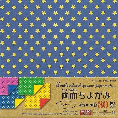 Papel P/ Origami 15x15cm Estampado Dupla Face Star G-039 - 39 (80fls)