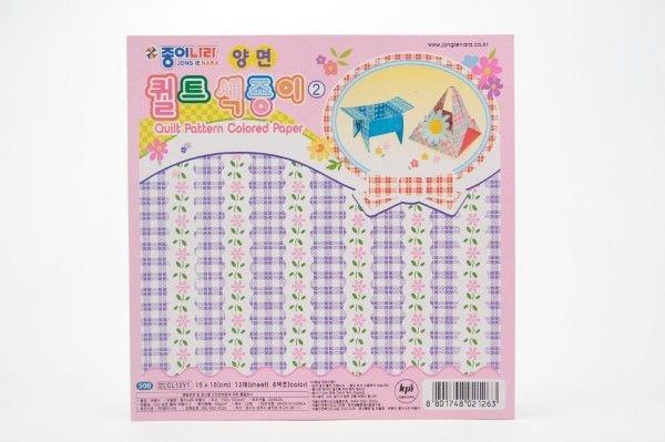 Papel P/ Origami 15x15cm Quilt Pattern CL12Y1 (12fls)