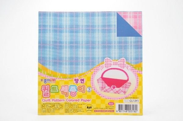 Papel P/ Origami 15x15cm Quilt Pattern (CL13Y1) (12fls)