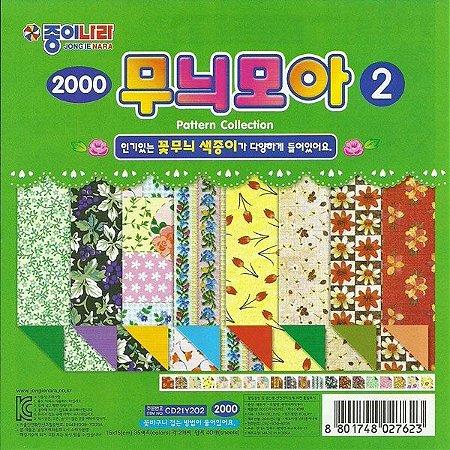 Papel P/ Origami 15x15cm Estampado Dupla-face CD21Y202 (40fls)