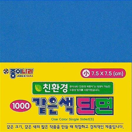 Papel P/ Origami 7,5x7,5cm Azul AC21D5-08 (80fls)