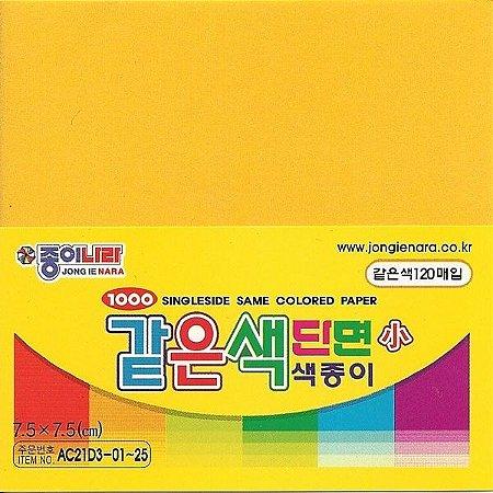 Papel P/ Origami 7,5x7,5cm Amarelo Escuro AC21D3-03 (120fls)