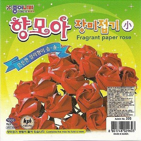 Papel P/ Origami 9x9cm Liso Face Única Fragrant Paper Rose DS41K2 (40fls)