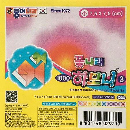 Papel Dobradura 7,5x7,5cm Blossom Harmony Colored Paper AFB00084 (80fls)